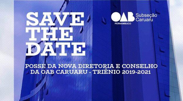 Cerimônia de posse da nova diretoria da OAB Caruaru será realizada nesta quinta (14)