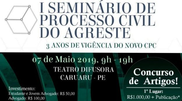 OAB Caruaru realiza I Seminário de Processo Civil do Agreste