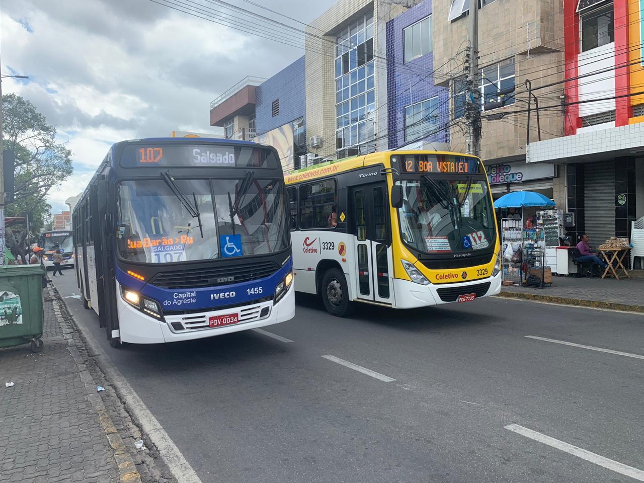Passagens de ônibus aumentarão para R$ 3,70 a partir do domingo (11) em Caruaru