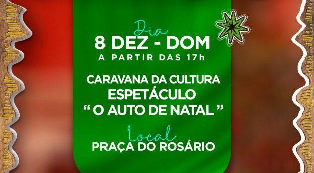 Espetáculo natalino é realizado neste domingo (08) na Praça do Rosário em Caruaru