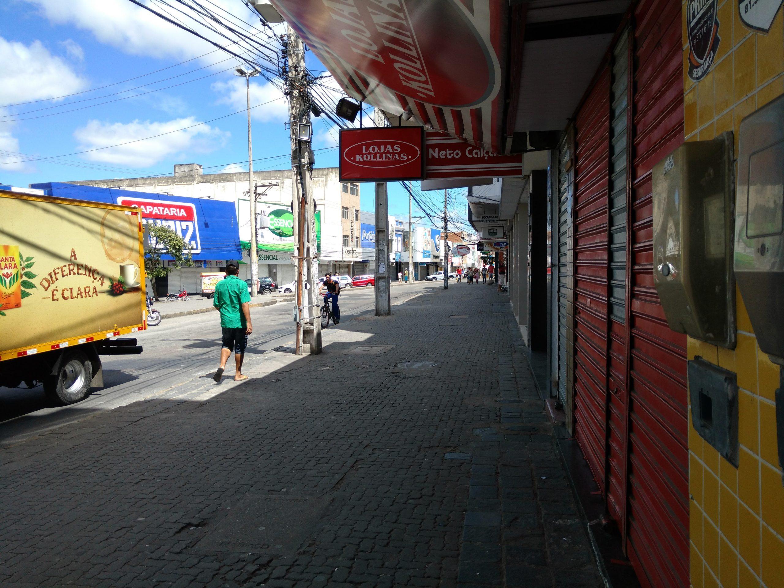 Comércio de Caruaru não vai funcionar no dia 18 de outubro