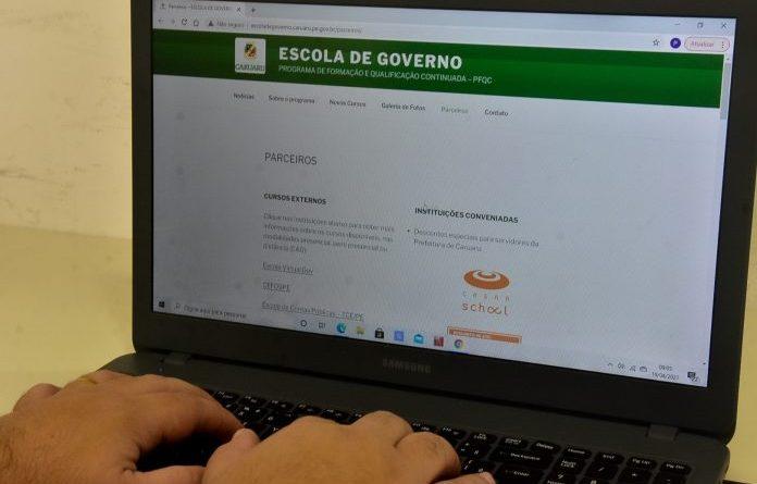 Prefeitura de Caruaru abre inscrições para cursos da Escola de Governo